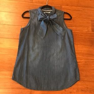NWOT Kenneth Cole chambray top